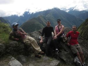 Dan, me, and Ty with our guide taking a break along the Inca Trail