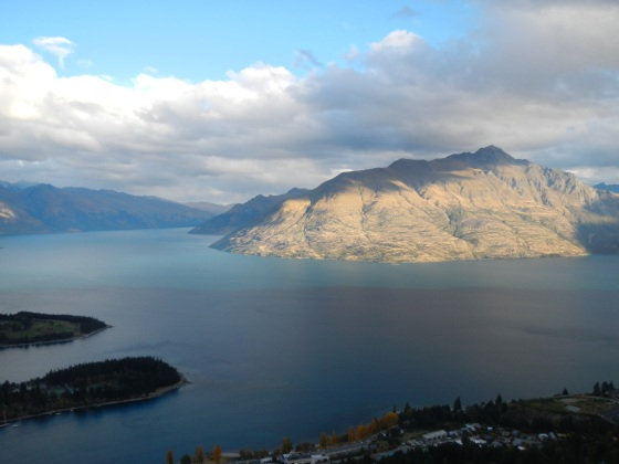 View of Queenstown from on top of the city